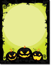Paper So Pretty - Blank Designer Papers (Spooky Pumpkins) (DP1113)